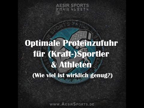 Optimale Proteinzufuhr für (Kraft-)Sportler und Athleten