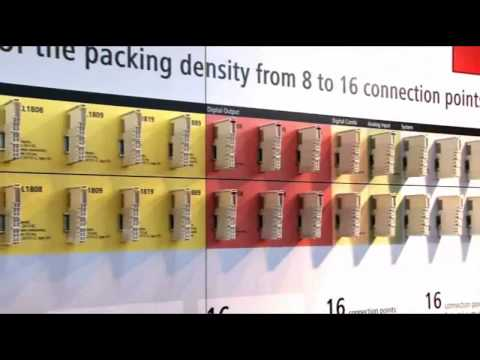 Beckhoff HD Bus Terminals: 16 channels in 12 mm (Hanover Fair 2010)