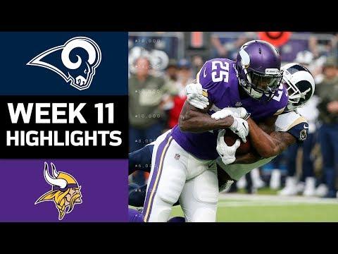 Rams vs. Vikings   NFL Week 11 Game Highlights