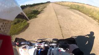 2. Polaris Predator 500 VS Yamaha Raptor 700 Drag races @ PedPit MX