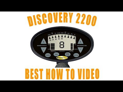 Discovery 2200 Bounty Hunter Metal Detector Review Demonstration and How to Setup Tutorial