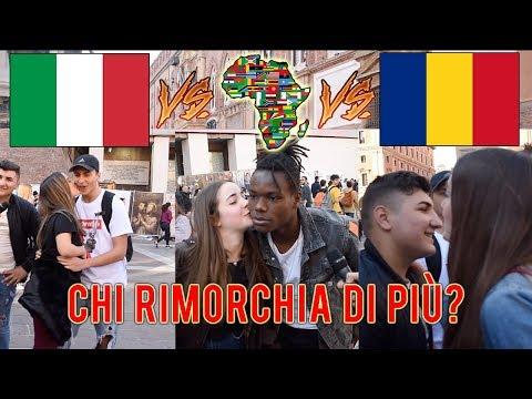 Italiano VS Africano VS Rumeno - Chi prende più BACI dalle RAGAZZE vince!