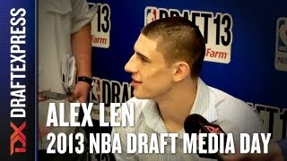 Alex Len - 2013 NBA Draft Media Day Interview - Part 2