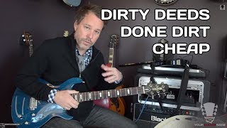 Dirty Deeds Done Dirt Cheap - Guitar Lesson