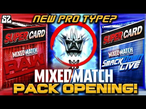 WWE MIXED MATCH CHALLENGE PACK OPENING! (ARE THEY WORTH IT?) NEW PRO TYPE LEAKED?! | WWE SuperCard