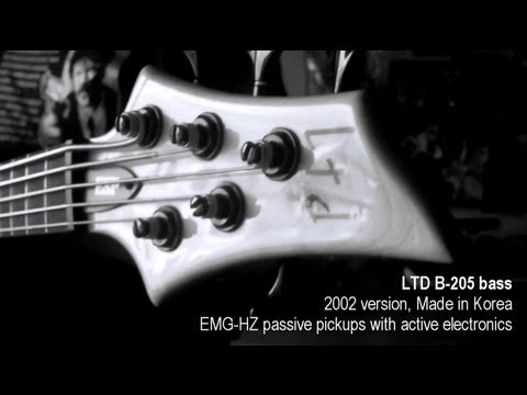 LTD BASS B-205 Korea 2002 Edition w/ EMG-HZ pickups TEST