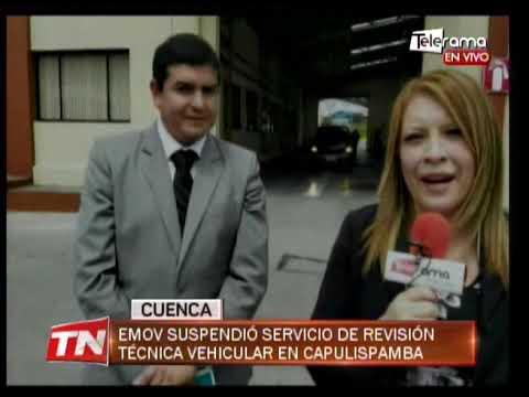 EMOV suspendió servicio de revisión técnica vehicular en Capulispamba