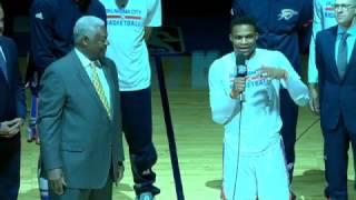 Oscar Robertson and Russell Westbrook Address OKC Crowd | April 12, 2017