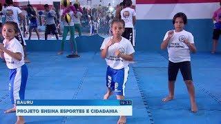 Projeto social ensina esportes e cidadania para crianças em Bauru
