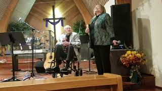 Pastor Bob Ulrich and Cynthia Ulrich Tobias at the FW Naz 50th Anniversary
