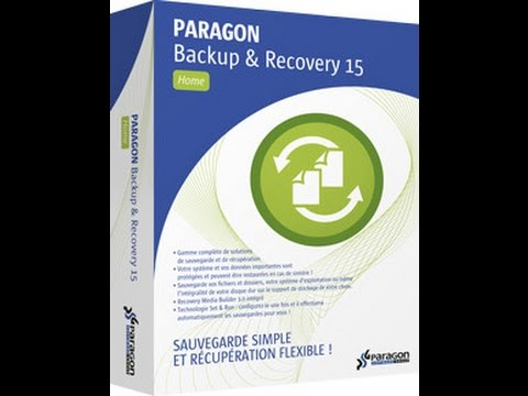 Restauration image disque avec Paragon Backup & Recovery