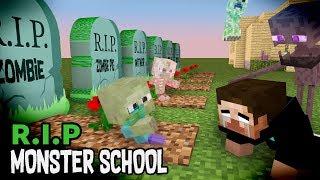 Monster School : RIP ALL  Monsters (Sad story) - Minecraft Animation