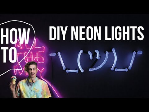 Thank you quotes - DIY Neon Light