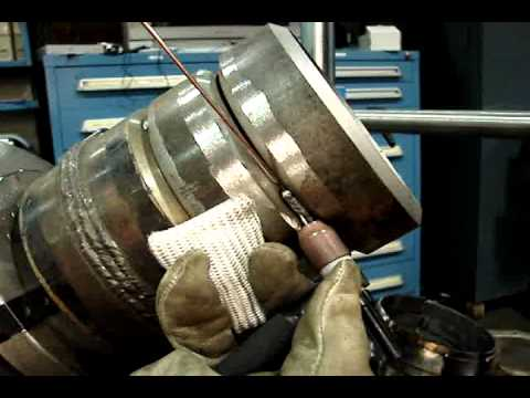 6G - http://www.weldingtipsandtricks.com/tig-welding-certification-tips.html Technique for Tig Welding pipe in 6g position using a Tig Finger heat shield and slig...