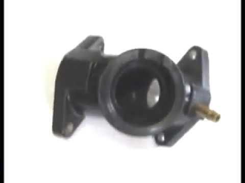 Патрубок карбюратора, двигателя мотоцикла YAMAHA XV250 VIRAGO ( видео)