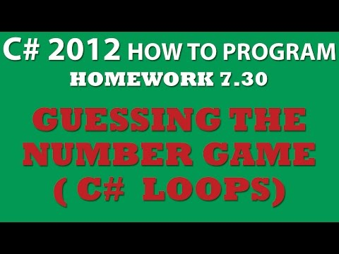 C# Guess the Number Game (Ex 7-30) Using Do While Loops, Random class, and Conditional Statements