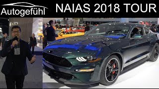 Video NAIAS Detroit Motor Show 2018 highlights REVIEW TOUR with Ford Mustang Bullitt - Autogefühl MP3, 3GP, MP4, WEBM, AVI, FLV Juni 2019