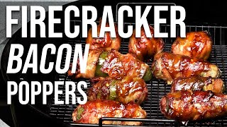 Bacon Firecracker Jalapeno Pepper Poppers by BBQ Pit Boys