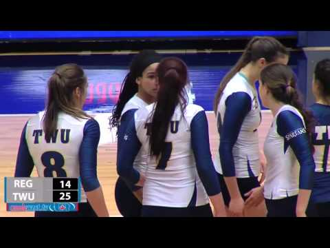 2015-11-13 TWU Women's Volleyball Highlights vs Regina
