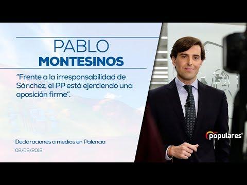 Montesinos: frente a la irresponsabilidad de Sánchez, el PP está ejerciendo una oposición firme.