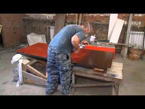установка для окраски железных дверей