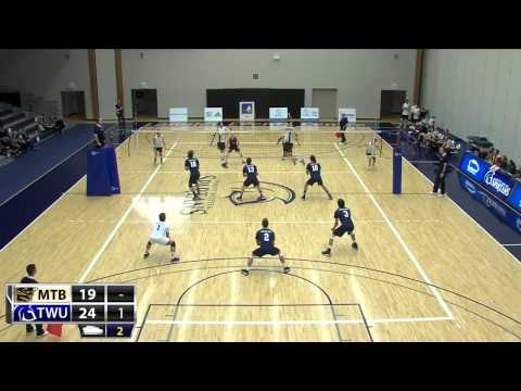 2014-10-31 TWU Men's Volleyball Highlights vs Manitoba