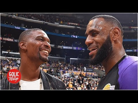 Video: Chris Bosh predicts the Lakers 'will be a problem' with LeBron and Anthony Davis | Golic and Wingo