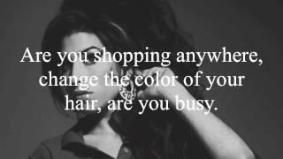Amy Winehouse- Valerie Lyrics