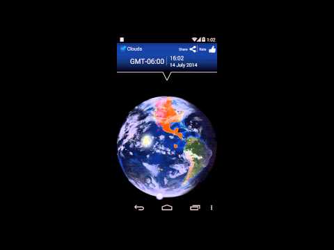 Video of Earth timezones map