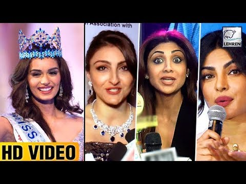 Bollywood Reacts On Manushi Chhillar WINNING Miss