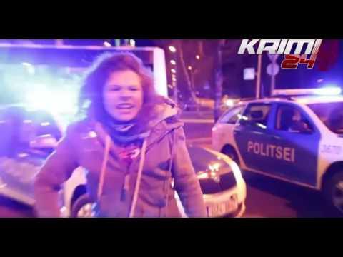 Жесткое задержание мотоциклиста в Таллине, Эстония