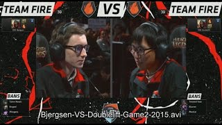 All Star LA 2015: Bjergsen Zed VS Doublelift Zed (1vs1 Game 2)