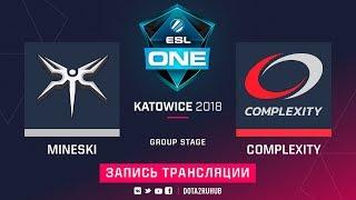 Mineski vs compLexity, ESL One Katowice [Jam, Lum1Sit]