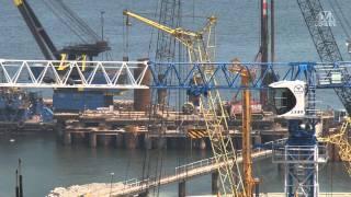Мост на остров Русский. Фильм, январь 2012