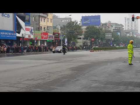 Đoàn xe của Chủ tịch Triều Tiên  Kim Jong-un đã về đến Hà Nội - Thời lượng: 3:10.