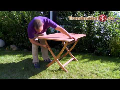 Gartenklapptisch Gartentisch Catar 120 x 80 jetzt aus FSC Eukalyptus