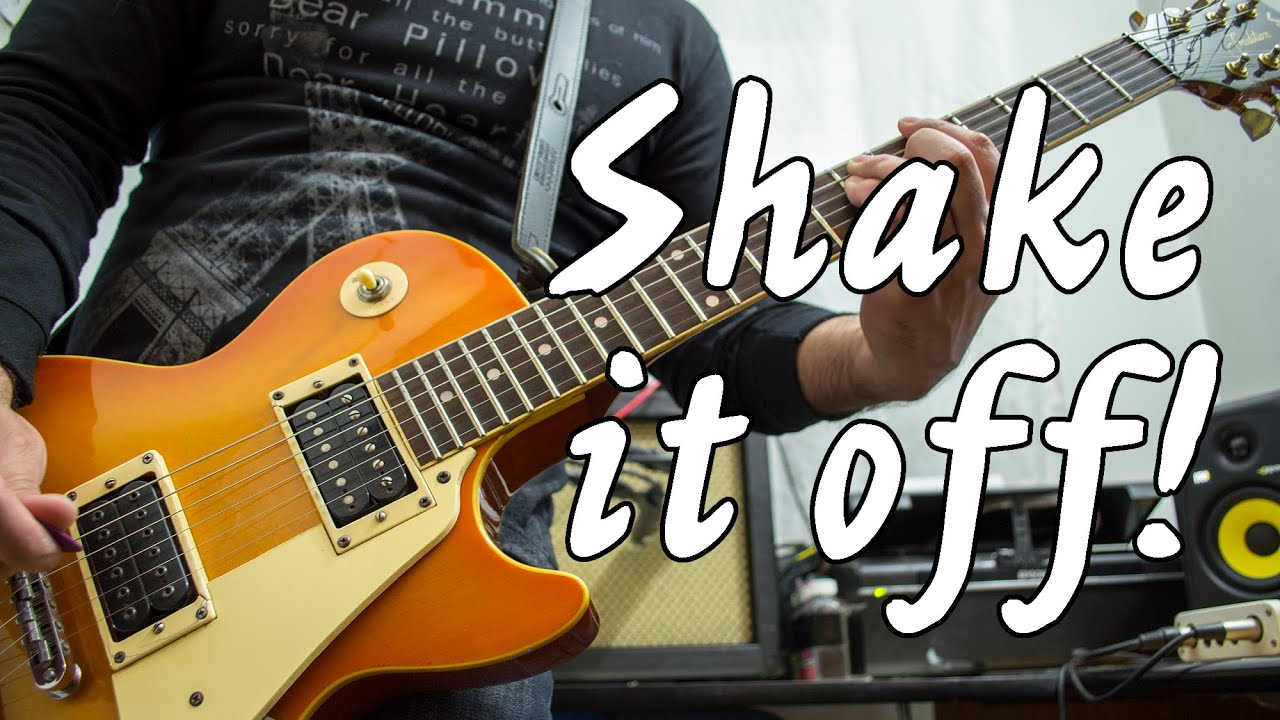 Taylor Swift – Shake It Off   electric guitar cover (instrumental & backing track)