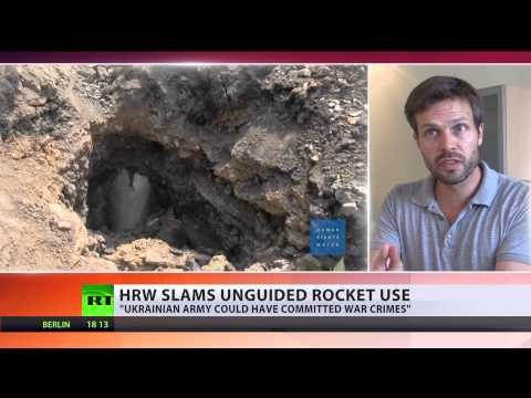 Kiev's 'war crime': HRW evidence clear, Ukraine must stop rocketing civilians