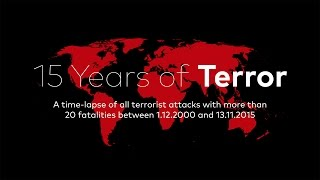 15 YEARS OF TERROR | A time-lapse map