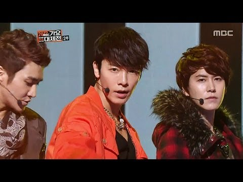 슈퍼주니어 - 2012 Korean Music Festival Super Junior : Mr. Simple Super Junior : Sexy, Free & Single TVXQ : O-Jung.Ban.Hap TVXQ : Catch Me 공식홈페이지 http://www.imbc.com/broa...