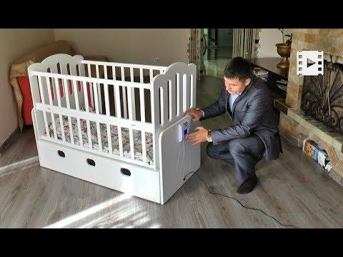Прикарпатець винайшов «розумне ліжечко», що самостійно заколисує немовля