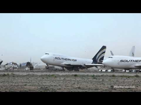 WIND - This 747 is sitting in a boneyard in Mojave, CA waiting to be dismantled and recycled at the end of its useful life. On May 23rd, 2012 the area experienced e...