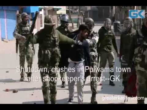 Shutdown, clashes in Pulwama town after shopkeeper's arrest