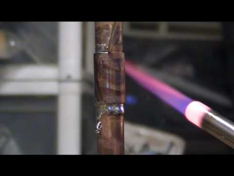 sweating welding a vertial copper pipe