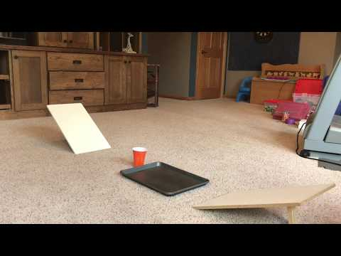 Guy Performs Increasingly Difficult Ping Pong Ball Trick