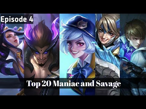 Top 20 Moments Maniac and Savage Episode 4 - Edited by Adra Gaming - Mobile Legend