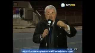 Asi Corrieron a Titi Fernandez en Chile  (Tv Publica) Copa America 2015