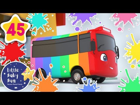 Learn Colors! - Rainbow Bus! | +More Baby Songs | Nursery Rhymes | Little Baby Bum