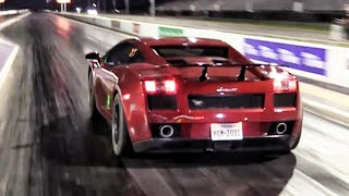 Twin Turbo Lamborghini - Drag Racing by High Tech Corvette
