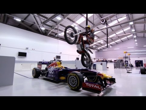 racing - 12-times World Trials Champion and UK Red Bull athlete Dougie Lampkin (@dougielampkin) came to play at the Red Bull Racing Factory. As well as driving throug...